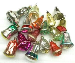 17-Antiker-Russen-Alter-Christbaumschmuck-Glas-Weihnachtsschmuck-Bells-Ornaments