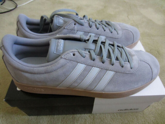 Adidas VL COURT 2.0 DA9875 Fashion Sneakers Men s Suede Shoes Gray Size 11.5 2f0db8745