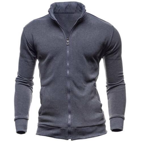 3XL Mens Full Zip Fleece Jacket Winter Casual Work Wear Coat Cardigans Size M