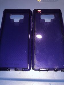 Lot-Of-2pc-Tech21-Evo-Check-Series-Case-Cover-for-Samsung-Galaxy-Note-9-Purple