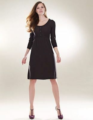 Bravissimo Button Detail Knitted Dress by Pepperberry in Black (17)