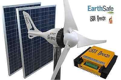 SET i-500 PLUS 24V, WINDGENERATOR + 200W SOLAR + HYBRID LADEREGLER iSTA-BREEZE®