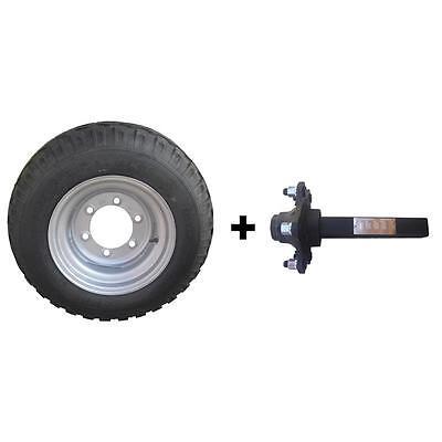 Achsstummel mit Rad 11.5/80-15.3 10PR BKT Komplettrad, Ackerwagen + für Anhänger