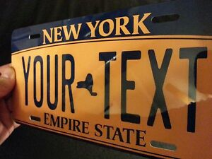 New-York-Sate-CUSTOMIZABLE-LICENSE-PLATE-ANY-TEXT-YOU-WANT-novelty-car-tag