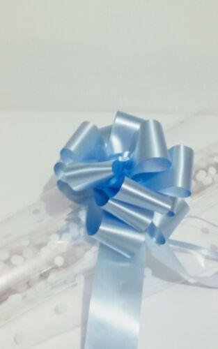 Large BOW and 2 sheets of FREE tissue white dots 80cm x 1 m Cellopane clear
