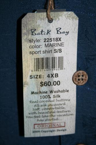 NEW Batik Bay short sleeve Sport Hawaiian shirt button front 100/% SILK//RAYON