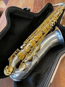 New RAMPONE & CAZZANI Tenor Saxophone - R1 JAZZ in SILVER & GOLD - Ships FREE