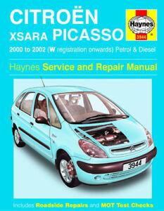 3944 haynes citro n xsara picasso petrol diesel 00 02 workshop rh ebay co uk workshop manual citroen xantia haynes manual citroen xantia