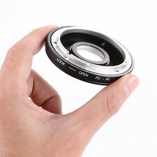 Lens Adapter With Glass for Canon FD/FC Mount to Nikon D810 D5500 D7200 D3300