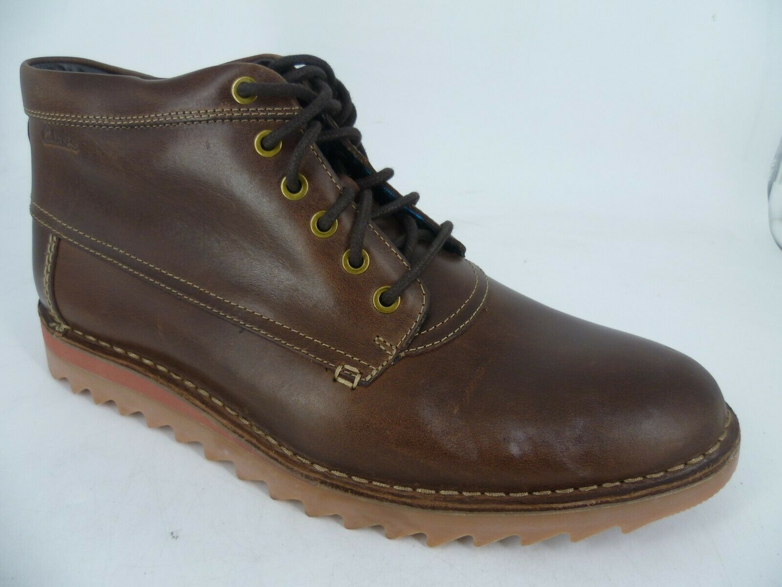 Clarks Newby Jump Mens Lace Up Ankle Boots Brown UK 10 EU 44 G fit LN096 GG 03