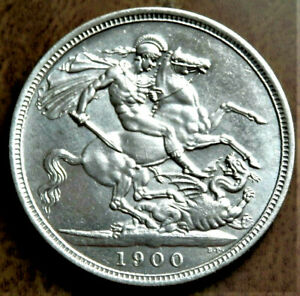 Hobo 1844 Queen Victoria Young Head Silver Skull  Crown Coin
