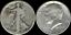 1-00-Face-1964-Kennedy-amp-Walking-Liberty-Half-90-SILVER-039-Circulated-039-Coins thumbnail 1