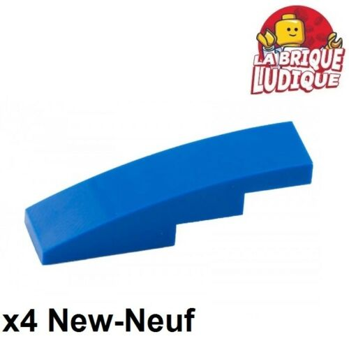 Lego 4x Slope curved pente courbe 4x1 bleu//blue 61678 NEUF