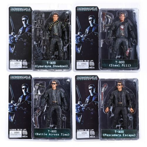 """NECA Terminator 2 Judgment Day T-800 Ultimate Deluxe Arnold 7/"""" Action Figure New"""