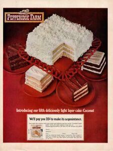 Vintage Advertising Print Food Pepperidge Farm Light Layer Coconut Cake Offer 69 Ebay