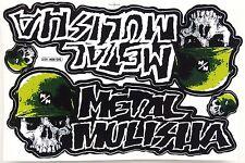 Großer Aufkleber Sticker MX Motocross METAL MULISHA grün 265 x 170 mm       #M18