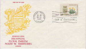 CANADA-429-5-PROVINCIAL-FLOWERS-ON-GINN-CACHET-FIRST-DAY-COVER-A