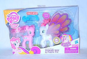 RARE My Little Pony ~*G4 FiM Glimmer Wings DIAMOND ROSE & Pinkie Pie MIB!*~