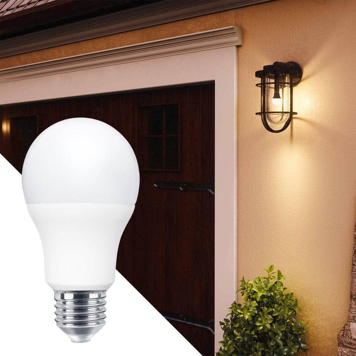 Dusk Till Dawn Sensor 9w Led Light Bulb B22 Or E27 A60 Security Light Bulbs