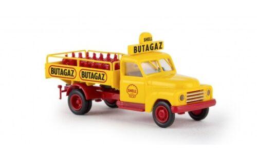 """1:87 Brekina Hanomag L 28 /""""Shell-Butagaz/"""" mit Gasflaschen #37132"""