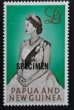 1963 Papua New Guinea £1 Queen Elizabeth II stamp SPECIMEN O/P MUH