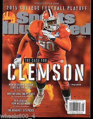 Sports Illustrated 2015/2016 Clemson Tigers Shaq Lawson NEWSSTAND Issue NR/Mt