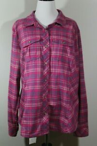 Cabela-s-Plaid-Pink-button-down-long-sleeve-shirt-XL-P