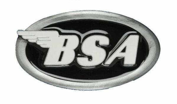 """Bsa Classico Logo Moto """"ovale"""" Fibbia Della Cintura-nero Morbido E Leggero"""