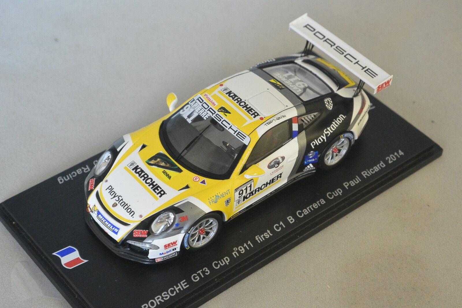 Spark SF083 - PORSCHE GT3 Cup C1 n°911  1er C1 Cup Carrera Cup France B P. Ricard 1 43 9f59ac