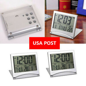 LCD-Digital-Folding-Desk-Travel-Alarm-Clock-With-Thermometer-Date-Calendar-Time