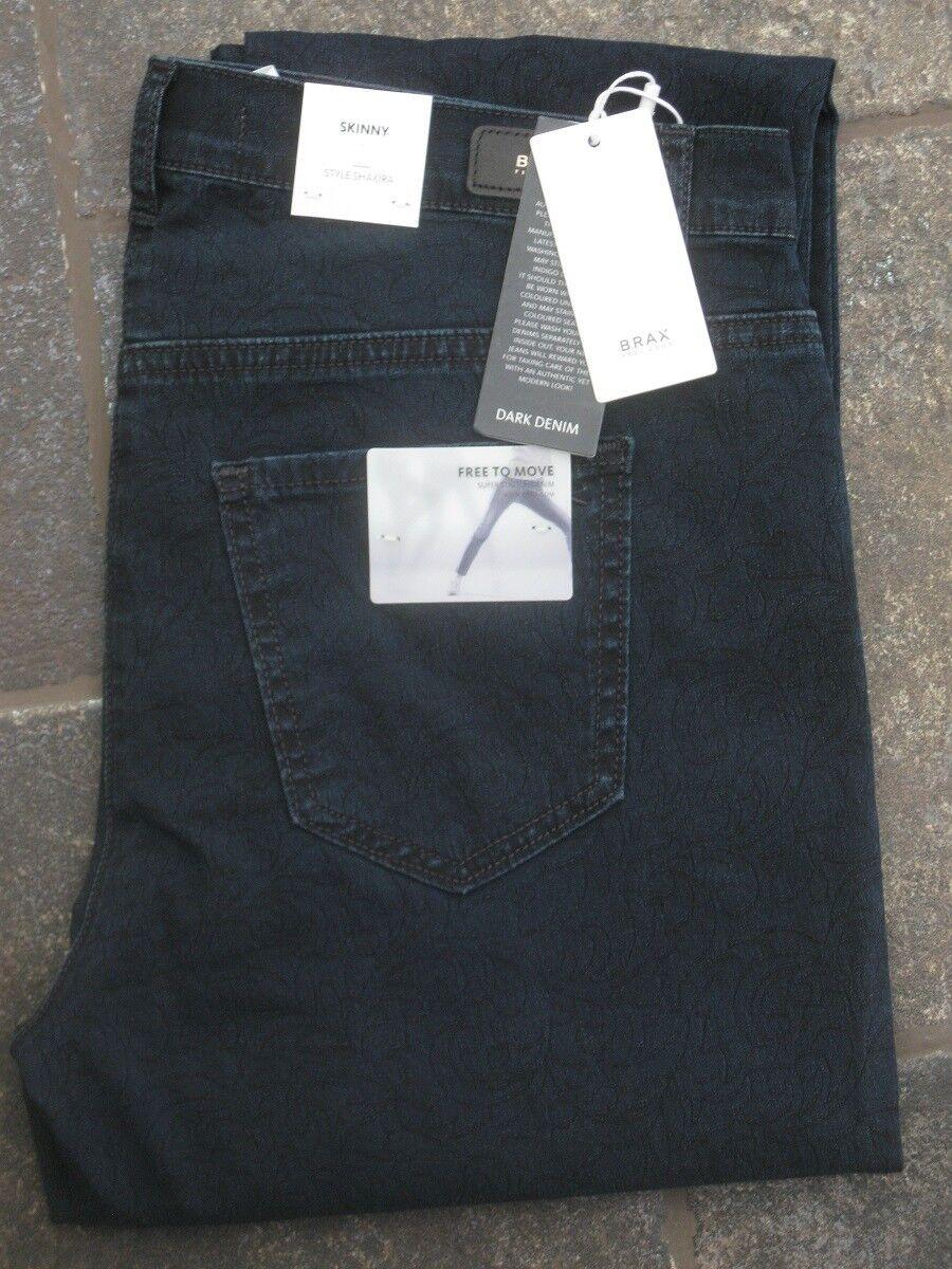 BRAX Jeans Stretchjeans Shakira Stretch Slim jeans blau dezent gemustert NEU