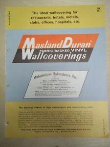 Vtg-Masland-Duraleather-Co-Brochure-Duran-Vinyl-Wallcovering-Catalog