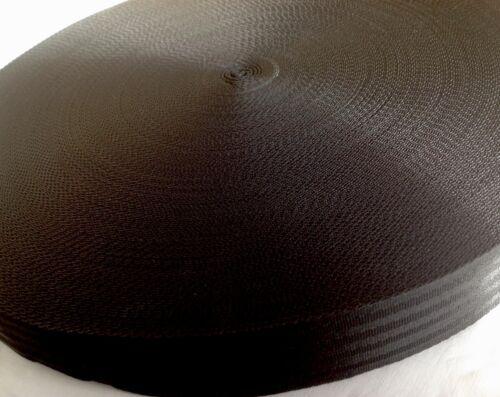 50mm Webbing Tape Nylon Black Herringbone weave straps strapping 2 inch