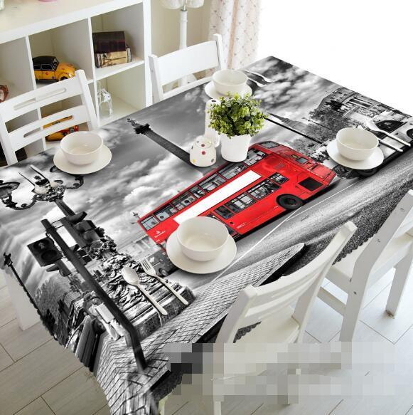 3D City Bus 56 Tablecloth Table Cover Cloth Birthday Party Event AJ WALLPAPER AU