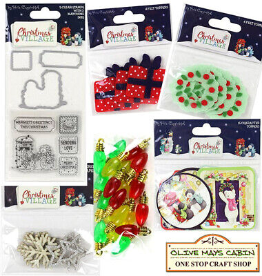 Helz Cuppleditch de Navidad aldea Pompones IDEAL PARA TARJETAS /& MANUALIDADES