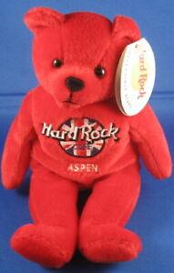 Hard Rock Cafe US/Canada/Europe City Rita Beara Plush Stuffed Beanie Bear 2000