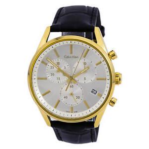 Calvin-Klein-K4M275C6-Men-039-s-Formality-Silver-Dial-Chrono-Watch