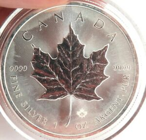2015-CANADA-5-1OZ-999-SILVER-PROOF-COIN-IN-CAPSULE