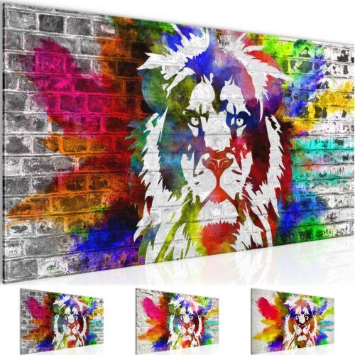 WANDBILDER XXL BILDER Löwe Graffiti VLIES LEINWAND BILD KUNSTDRUCK 303512P