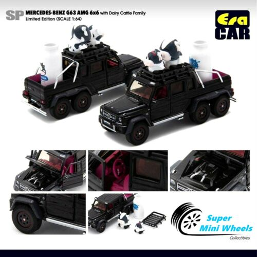 With Dairy Cattle Family Limited Black ERA Car 1//64 Mercedes-Benz G63 AMG 6x6
