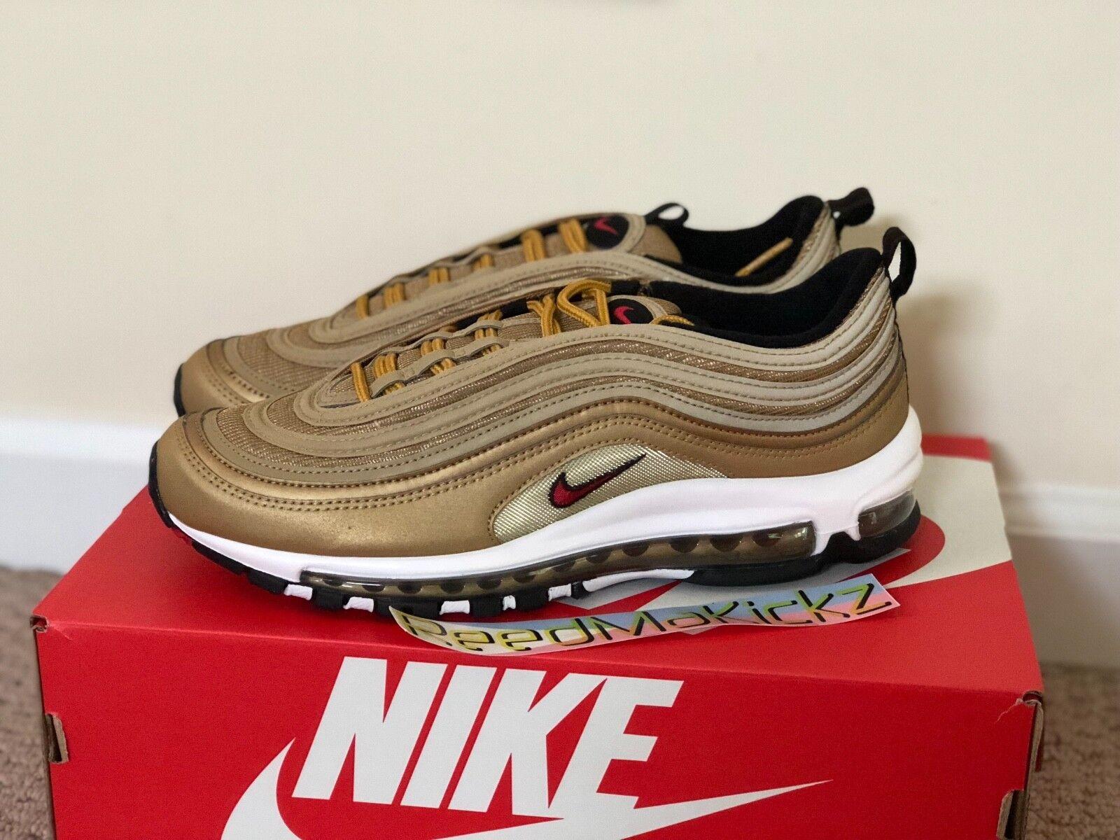 Nike Air Max 97 OG QS Metallic gold mens sizes 884421 700