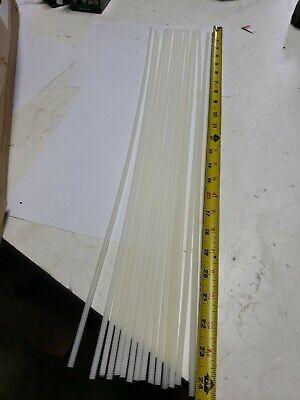 GRAINGER APPROVED Threaded Rod,Nylon 6//6,1//2-13x2 ft 3850013TR-2FT Off-White