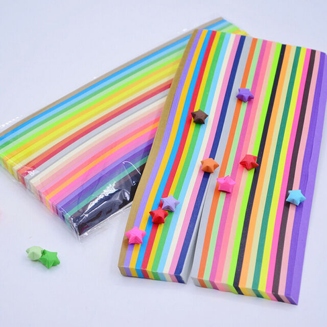 Multi Sheets Origami Stars Paper Double Sided 27 Colors Paper Folding Strips G