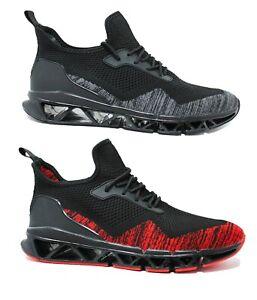 Sneakers-scarpe-uomo-Running-Fitness-sportive-Air-Flex-React-con-suola-tecnica