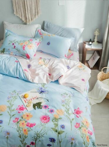Reversible Hotel Quality  3D Printed Floral Duvet Cover Sets with Pillowcases