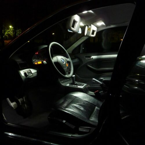 SMD LED Innenraumbeleuchtung komplett Set BMW E46 3er Xenon Weiss Limo Coupe
