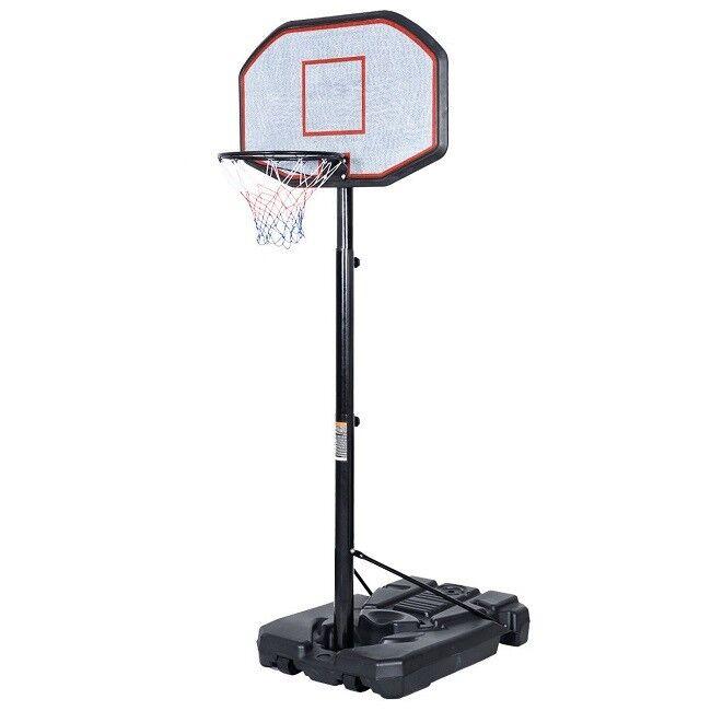 Outdoor Basketball Hoop Indoor Adjustable Heihgt Portable Mens Youth Boys Girls