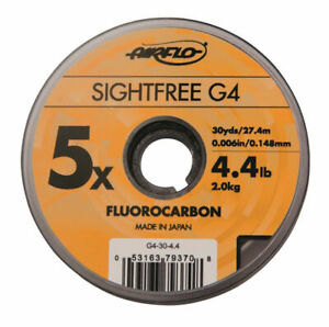 Airflo-Tippet-Leader-Sightfree-G4-Fly-Fishing-Fluorocarbon-30yd-Various-Sizes