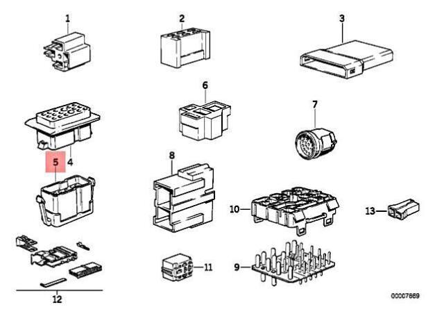 genuine bmw m3 e23 e24 e28 e30 e34 316 plug terminal for