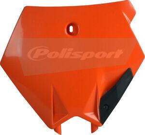 Polisport Front Number Plate - Orange, Color: Orange 8660900002